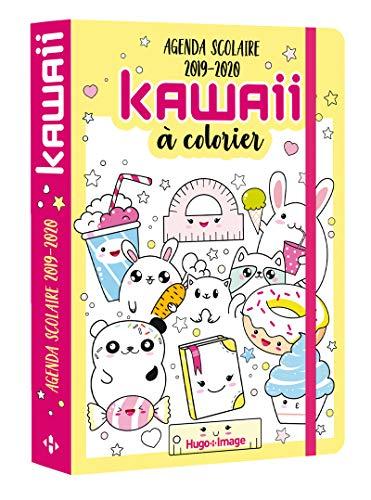 Agenda scolaire Kawai à colorier 2019-2020