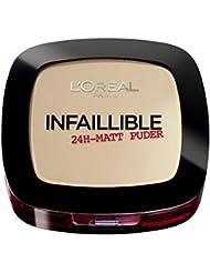 L'Oréal Paris Infaillible Puder, 123 Warm Vanilla, 1 x 9 g