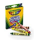 Crayola Washable Crayons, Large, 8 Colors/Box (52-3280)