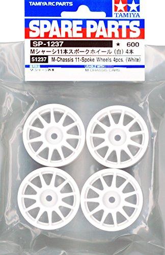 Preisvergleich Produktbild Tamiya 300051237 - M-Chassis Felgen Suzuki Swift (4), weiß