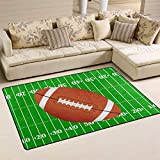 Use7 American Football Spielplatz Teppich Anti-Rutsch-Fußmatte Fußmatten für Kinderzimmer, Wohnzimmer, Schlafzimmer, Textil, Mehrfarbig, 100 x 150 cm(3' x 5' ft)
