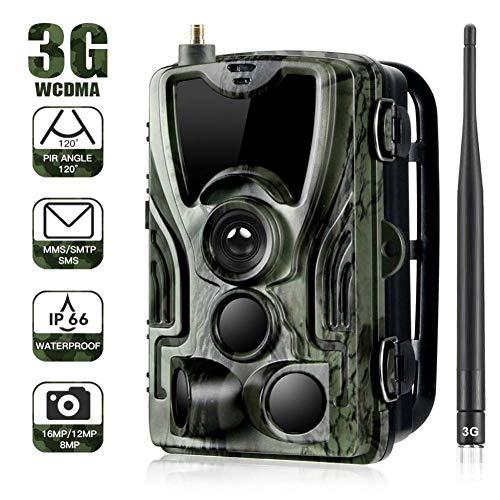 MC.PIG Wildkamera Jagdkamera  16mp 1080p 3G Wildlife Trail-Kamera HD mit Nachtsichtgerät IP65 Wasserdichte Infrarotkamera 42 IR-LEDs mit 0.3s Aktivierungszeit für die Überwachung im Freien und zu Hau