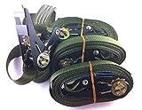 4x Ratschenspanngurt oliv farbend
