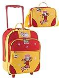 2 tlg. Kinderset - Trolley und Reisetasche mit Mädchenmotiv