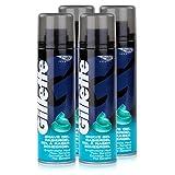 Gillette Basis Rasiergel für empfindliche Haut 200ml Dose (4er Pack)