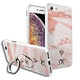 VVM Tech Personnalisé initiales Marble Design Etui arrière pour téléphone + Bague...