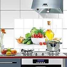 Kicode DIY extraíble Aceite-prueba Pegatinas de pared Cocina Arte Mural Vinilo Inicio Sala de