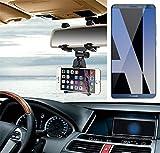 Für Huawei Mate 10 Pro Single SIM Smartphone Halterung Rückspiegel Halterung schwarz Auto Halterung für Huawei Mate 10 Pro Single SIM Spiegel KFZ Halter - K-S-Trade (TM)