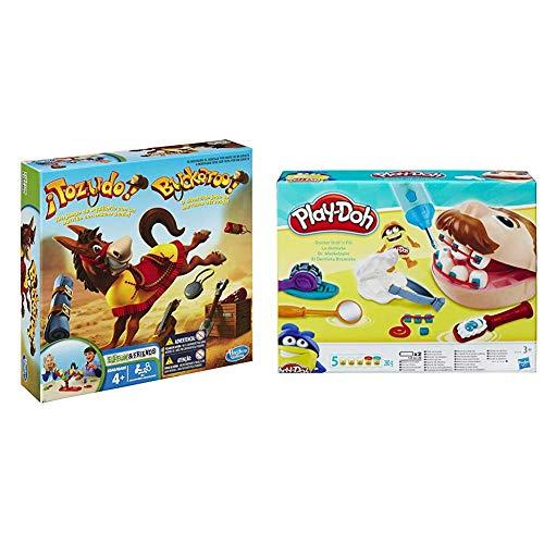 Games Tozudo (Hasbro 48380B09) + Play-Doh PDH Core Dentista Bromista,, 1 (Hasbro B5520EU4)