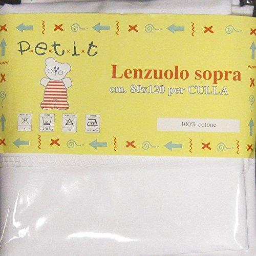 LENZUOLA SOPRA CULLA 80X120 CM CONFEZIONE 2 PEZZI usato  Spedito ovunque in Italia