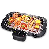 DZQZR 2000W Elektrogrill Indoor Barbecue mit Easy Cleanup Kochfläche und Thermostat DMZ