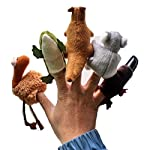 XCXpj 5pcs Australias Five Animal Finger Doll Koala Fingering Kangaroo Finger Crocodile Finger Dolphins Fingerlings Plush Toys
