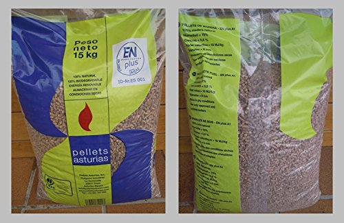 Pellets di pellets; asturie pallet 72 sacos. certificato enplusa1. per stufe e caldaie.