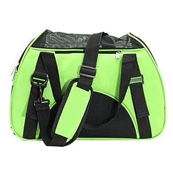 Sac de transport - SODIAL(R)Sac de transport de voyage pour chien chat Sac d'animal de compagnie en tissu vert