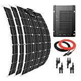 Giosolar Solarpanel, 300 W, Flexibles Solarmodul, Akku-Ladegerät Monokristallin, MPPT 40 A Solarregler für Boot, Wohnwagen, Off-Grid