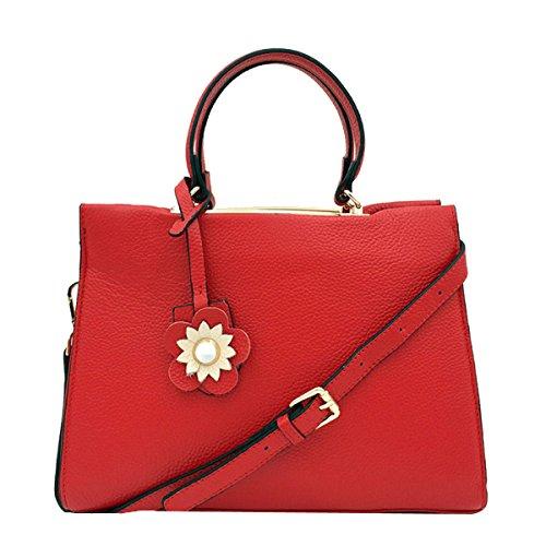 Borse Donne Per Le Donne Semplici Borse A Spalla In Pelle PU Messenger Tote Bags Red