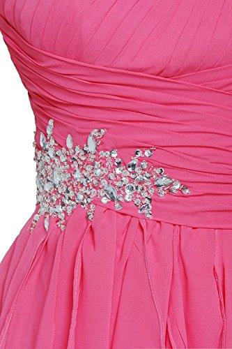Promworld Women's Ein Strap Wulstige Chiffon Ballkleid Abendkleid Red