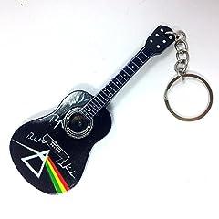 Idea Regalo - Portachiavi in Legno Forma Chitarra - Pink Floyd - Tribute - DSOM