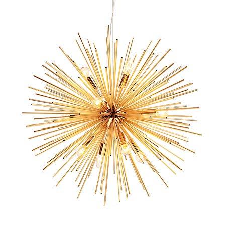 Kaluori Goldener Sputnik Kronleuchter Deckenleuchte Lampe Anhänger Leuchte  E14 Licht