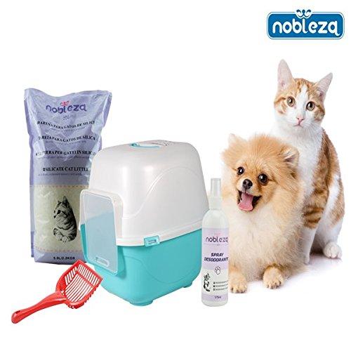 nobleza-pack-de-bandeja-higinica-y-accesorios-para-gatos-kitten-ii-contiene-bandeja-higinica-cubiert