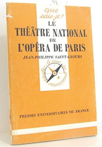 Le Thtre national de l'Opra  Paris