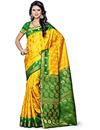 Mimosa Women's Silk Saree (103-2D-Gld,Gold,Free Size)