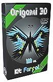 Origami Modular 3D Kit Schmetterling - 111 Pcs Karton 'Vorgewertet' gleich 1/32 auf A4-Basis - Online-Video-Tutorial Anweisungen In Italienisch und Englisch auch Papier - Internet-Anschluss-Anfrage - Made In Italy-