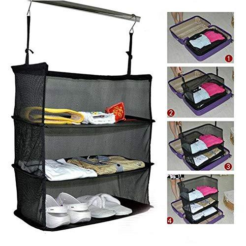 Grassair borsa da viaggio pieghevole portatile pieghevole a 3 strati da viaggio/borsa da viaggio/organizer / valigia/baule / travel space space saver