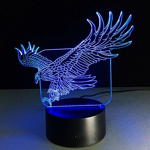 Acryl 3D Neuheit Licht Flying Eagle LED Lampe 7 Farben Ändern 3D Tischlampe Luminaria LED Nachtlichter Babyzimmer Nachtlicht han-9443