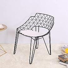 Nordic Gold Fluff Stoff Sessel esstisch Freizeit R/ückenlehne Stuhl Eisen Kunst Metall lesestuhl Kaffee Stuhl 87 cm,Blue Family History Haushaltssessel