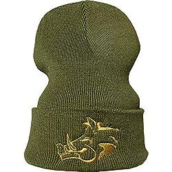 Bonnet: Sanglier - Chasse - Chasseur/Bonnet de Laine/Bonnet d'hiver/Beanie/Bonnet/Casquette/Bonnet de Ski/Unisex/Bonnet brodée/Hip-Hop/Gibier/Cadeau pour Un Chasseur