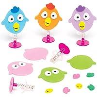 Baker Ross Juego de pájaros saltarines para niños - Ideal para bolsas sorpresa o como regalo para niños (pack de 6).
