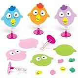 """Bastelsets """"Lustiger Vogel"""" für Kinder mit Hüpffunktion – Perfekt als Geschenk Oder als Kleine Party-Überraschung für Kinder (6 Stück)"""