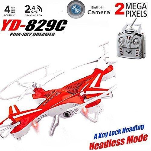 Attop ® - Drone Cuadricóptero 2.4G (locking route) - - cámara de...