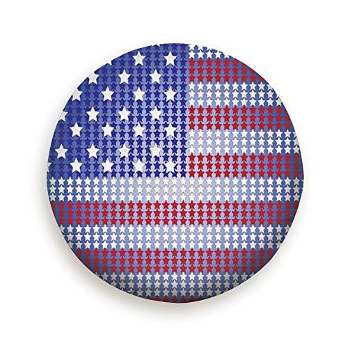 Huabuqi Amerikanische Flagge Independence Day Pure Black 14