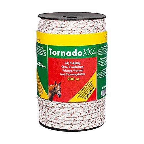 Corde Tornado XXL, 200 m, 6 inox d = 0,20 mm, 3 cuivre d= 0,30 mm blanc/rouge - 183500