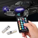 ILOVEDIY Auto Licht RGB Strip Streifen Leuchte Innenbeleuchtung Dekorative Lampe T10 5050 6SMD Silikon mit Fernbedienung Strobe