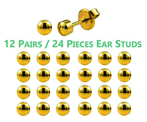 F-O-M Ear Piercing Studs Made From 316L Surgical Steel Sterile For Ear...
