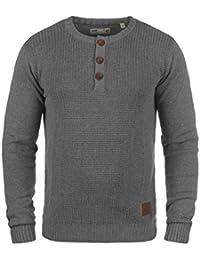 !Solid Terrance Jersey De Punto Suéter para Hombre con Cuello Redondo