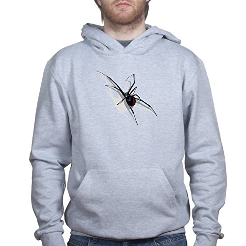 Mens Real 3D Spider Halloween Scary Hoodie 2XL Sports Grey