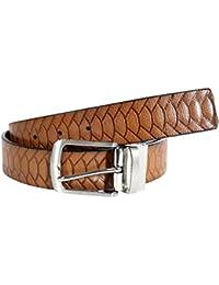 Herren Multi Strukturiert Doppelt Seitig Geprägt Prämie Leder Reversibel Gürtel Kleidung & Accessoires