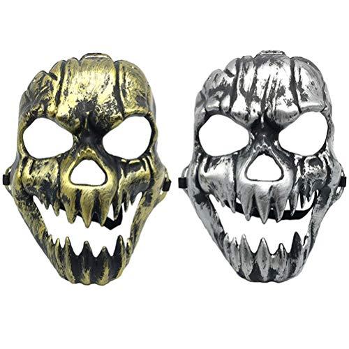 Amosfun 2 stücke Halloween Kostüme Maske Scary Creepy Horrible Ghost Gesichtsmaske Kostüm Prop Maskerade Cosply Halloween Kostüm Party (Wirklich Gruselige Halloween Kostüme Für Männer)