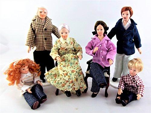 NEU Puppenhaus Miniatur Modern Porzellan Familie mit 6 Menschen 1308 Puppenhaus 1 12 Maßstab Familie