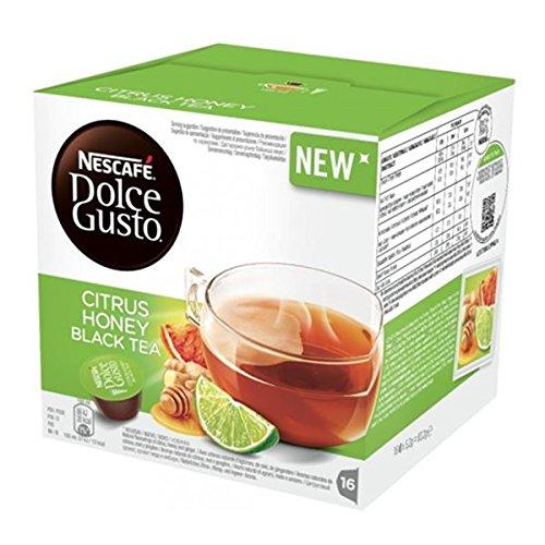 Nescafè(R) Los tés y cápsulas de hierbas originales Dolce Gusto Citrus Honey Black Tea - 16 cápsulas
