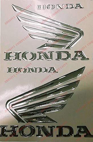 Honda, par alas Hornet en Relieve, Pegatinas resinati, Efecto 3D. para depósito...