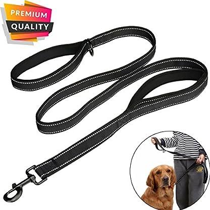 MEKEET Large Dog Lead Leash, 1.5m Double Handles Dog Lead Heavy Duty Strong Nylon Reflective Dog Leash with 2 Padded… 1