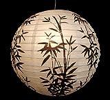 1 X Lampe Papier Lampion 03 Bambus Pendelleuchte