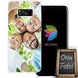 dessana Eigenes Foto transparente Schutzhülle Handy Tasche Case für Samsung Galaxy S8
