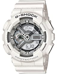 CASIO G-Shock GA-110C-7AER - Reloj de caballero de cuarzo, correa de resina color blanco