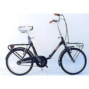 51b4DqVmhuL. SS300 FAEMA Bici Pieghevole 20 Acciaio Nera